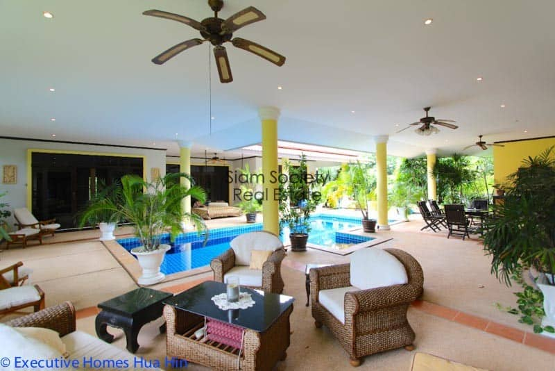 Palm Hills Home For Sale - Lounge Area on Terrace