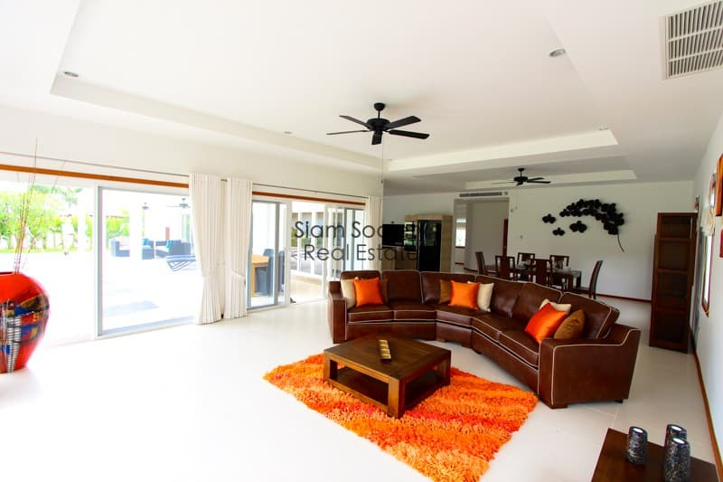 Open plan living and living room